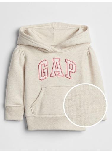 Gap Gap Logo Kapüşonlu Sweatshirt Gri